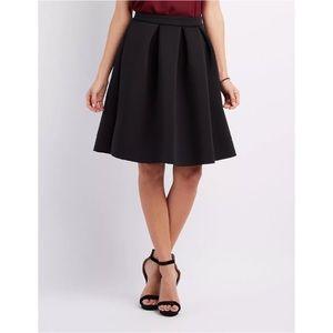 🖤 NWT Black A line Midi Scuba Skirt 🖤